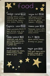 Copper Star Coffee Lunch and Dinner Menu